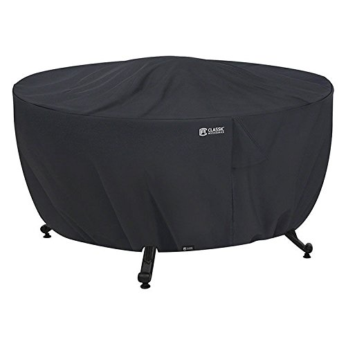 Classic Accessories Full Coverage Fire Pit Cover, Round, Black 55-554-010401-00 .#GH45843 3468-T34562FD214040 ()