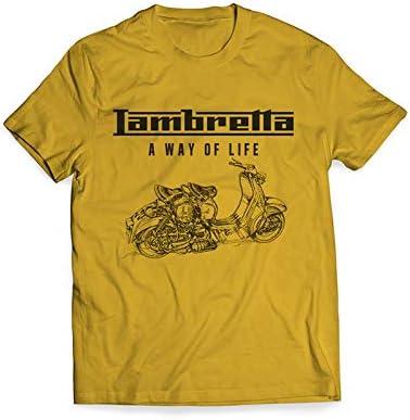 LAMBRETTA Camiseta para Hombre (s) Amarilla: Amazon.es: Coche y moto