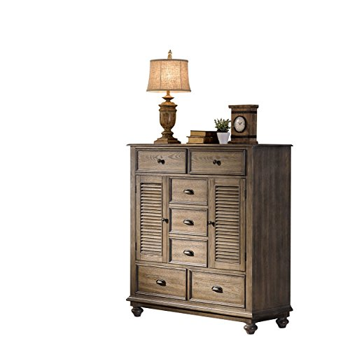 Mule Chest - NCF Ladella Rustic Tropical Shutter Front Mule Chest in Natural Driftwood