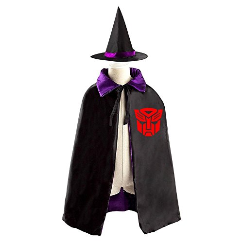 Womens Transformers Megatron Costumes (Children Transformers Autobots Logo Halloween Christmas Cloak With Hat Witch Costume Props)