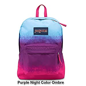 JanSport Superbreak Girly School Backpack B1020: Purple Night Color Ombre