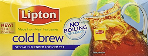 Lipton Cold Brew Family Iced Tea Bags Black tea 22 ct (Pack of 3)