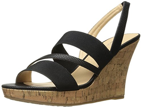 CL by Chinese Laundry Women's Intend Lizard Wedge Sandal, Black, 10 M (Lizard Print Sandal)