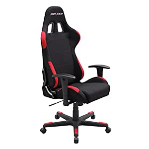 DXRacer Formula Series DOH/FD01/NR Newedge Edition Racing Bucket Seat Office Chair Gaming Chair Ergonomic Computer Chair eSports Desk Chair Executive Chair Furniture With Pillows (Black/Red)