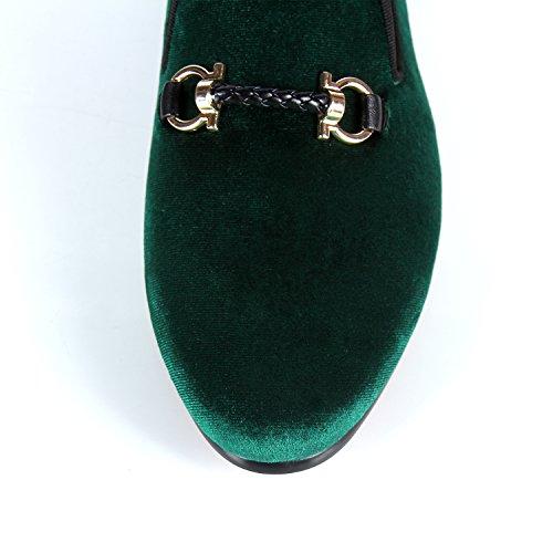 Heren Fluwelen Loafers Handgemaakte Gesp Trouwschoenen