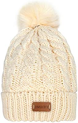 8ebc69268da OMECHY Women s Winter Knit Hat Trendy Slouchy Beanie with Warm Fleece  Lining Skull Chunky Soft Thick Cable Ski Cap in 5 Color