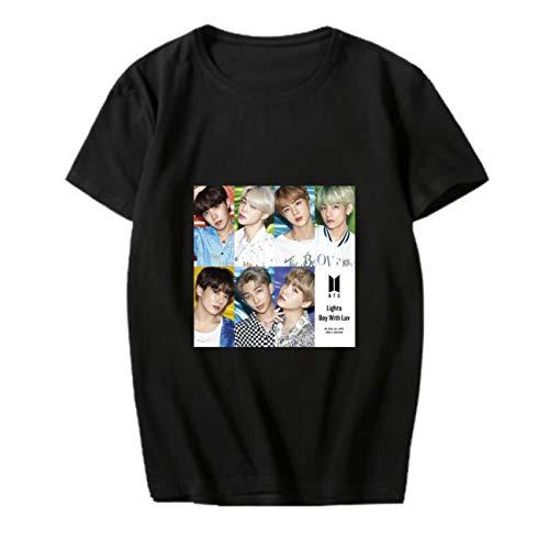 Aopostall BTS Merchandise,Kpop BTS Jimin Jungkook Suga V JHope Shirt New Album Lights/Boy with Luv T Shirt
