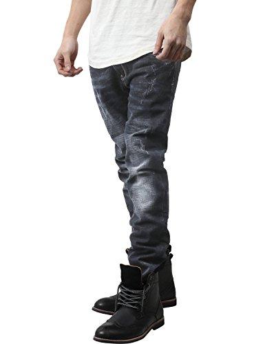 b216b8df53 Ma Croix Mens Skinny Fit Jeans Classic Denim Pants (32W X 30L  r.