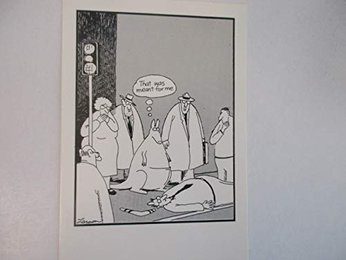 Boomerang Card - The Far Side by Gary Larson Vintage 1980's Post Card -