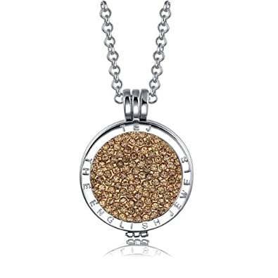 Austauschbar Münzen Anhänger Halskette Rose Gold Vernickelt