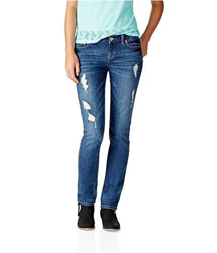 Aeropostale Womens Bayla Skinny Fit Jeans, Blue, 00 Regular