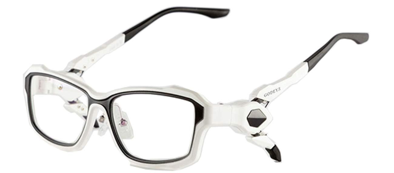 ゲーム PC eスポーツ ゲーマー 専用 眼鏡 メガネ ブルーライト HEV UV カット 伊達 GE-01 (白蓮)  白蓮 B07QH5SXQ3