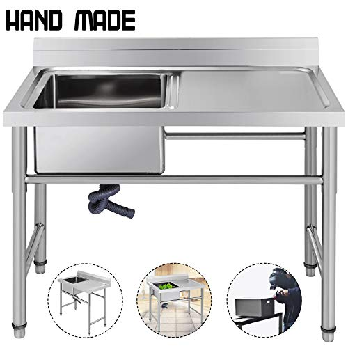 Review Of Mophorn Stainless Steel Bar Sink Commercial Standard Underbar Sink for bar kitchen restaur...