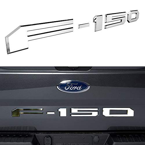 Tailgate Insert Letters for Ford F150 2018 2019 2020 - 3M Adhesive & 3D Raised Tailgate Decal Letters - Chrome Silver