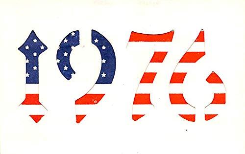 Patriotic Post Card Old Vintage Antique Postcard 1976 Bicentennial Hold to Light Unused