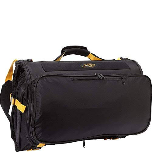 A.Saks Expandable Deluxe Tri-fold Carry On Garment Bag in Black