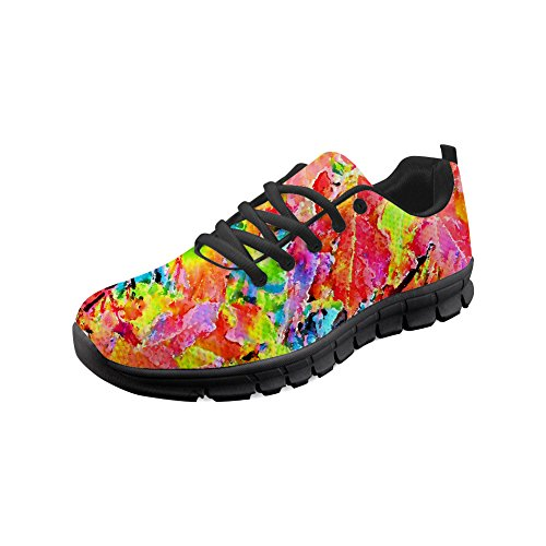 ec776644f9b WHEREISART Fashion Women Sneakers Lace-up Lightweight Mesh Breathable Shoes  Walking Jogging Sports Running Shoes