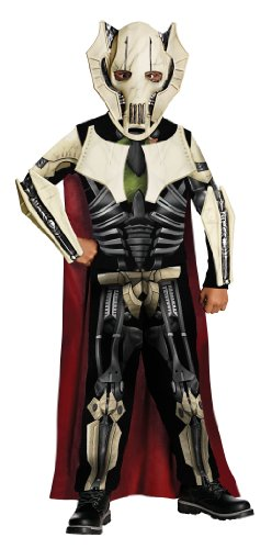 Star Costumes For Children (Star Wars General Grievous Costume - One Color - Medium)