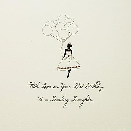 A una hija Darling - Calidad Grande Hecho a mano 21st Tarjeta de ...