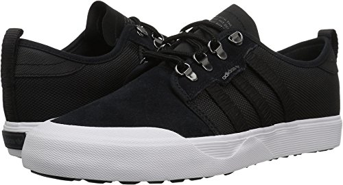 adidas Originals Men's Seeley Outdoor Sneaker, Black/Black/White, 11 M US Eyelet Mens Shoe