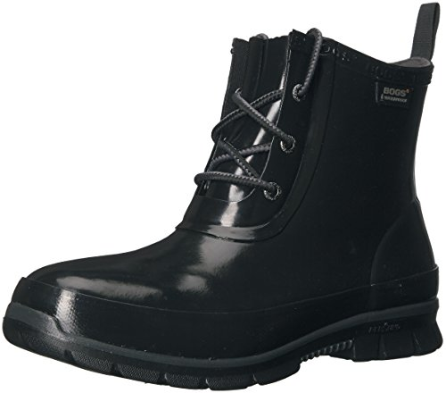 Bogs Women's Amanda Chukka Rain Boot,Black,9 M US