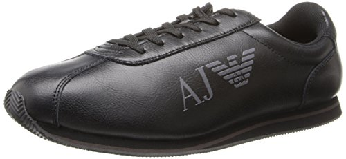 Armani Jeans Men's Logo Fashion Sneaker,Black,9 UK/9.5 M US