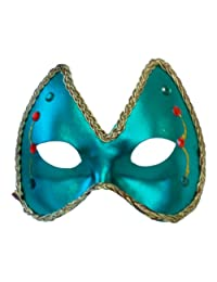 Mardi Gras Eye Costume Mask: Green