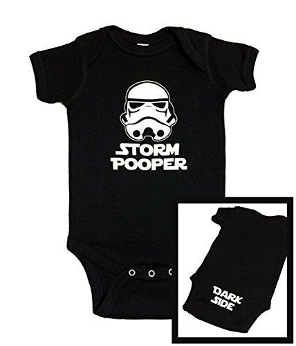 """Cute Star Wars Inspired Bodysuit """"Storm Pooper Dark Side"""