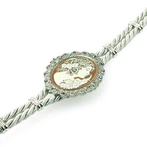 MIA ISA FRANCE - Bijoux - Femme - Bracelet la dame de Camélia en argent 925 1000 rhodié gris UOXA