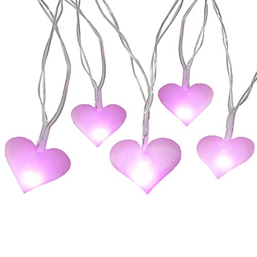 Pink Heart Led Lights in US - 1