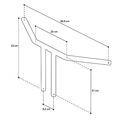 Lenker Fat T-Bar 10 f/ür Suzuki Intruder VS 1400//800// 750//600 Chrom