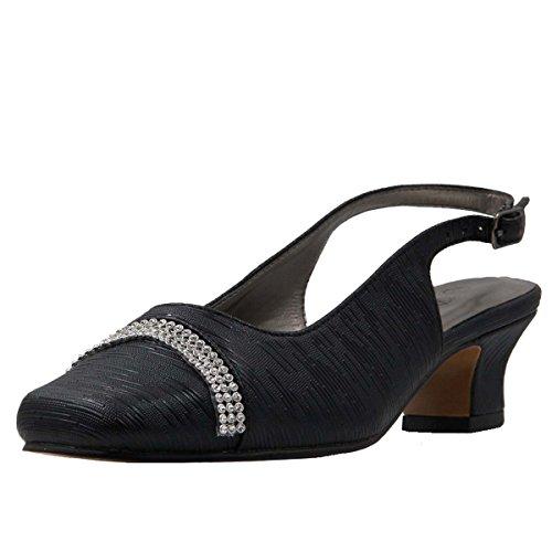 Image of Bella Hanna Women's Wide Width Rhinestone Band Short French Heel Shoes
