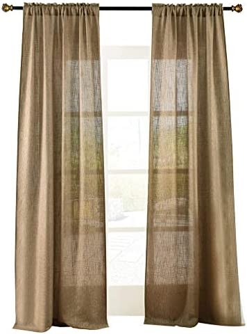 Home Decor Traditional Window Treatment Curtain Panel Valance Drapery TkEmpire Brown Gold, 37 Waterfall Valance