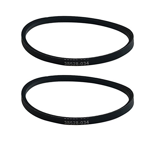2 Replacements for Hoover WindTunnel Self Propelled Skinny Drive Belts, Compatible With Part # 38528034, by Think Crucial - Agitator Drive Belt