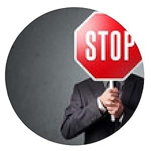 alfombrilla de ratón El hombre de negocios la celebración de una señal de stop - ronda - 20cm