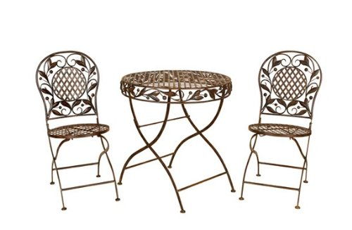Set of 3 Cairo Bistro Patio Garden Table and Chairs