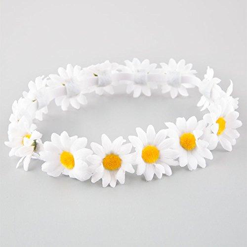 FULL TILT Daisy Flower Crown, White