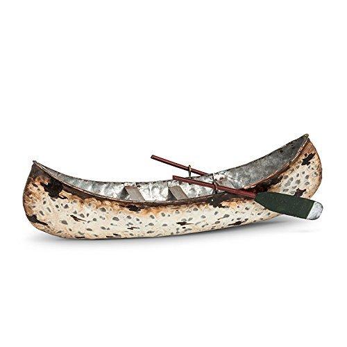 Abbott 27-LODGE//0226 Collection Birch Canoe with Paddles Medium