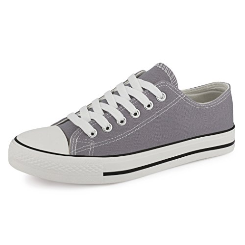 Best-botas para mujer zapatilla zapatillas zapatos de cordones estilo deportivo Grigio (New Grey)