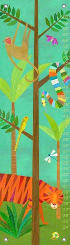 Oopsy Daisy in The Jungle by Melanie Mikecz Growth Charts, 12 by 42-Inch by Oopsy Daisy