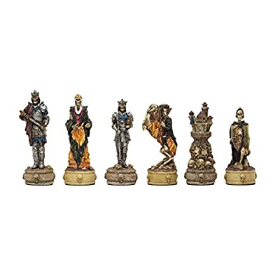 Regencychess The Zombie Hand Painted Themed Chess Pieces by Italfama