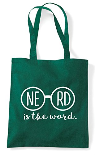 Word Nerd Bag Statement Is Shopper Tote Green Glasses Nerdy Specs The Dark wnTOEq4Z