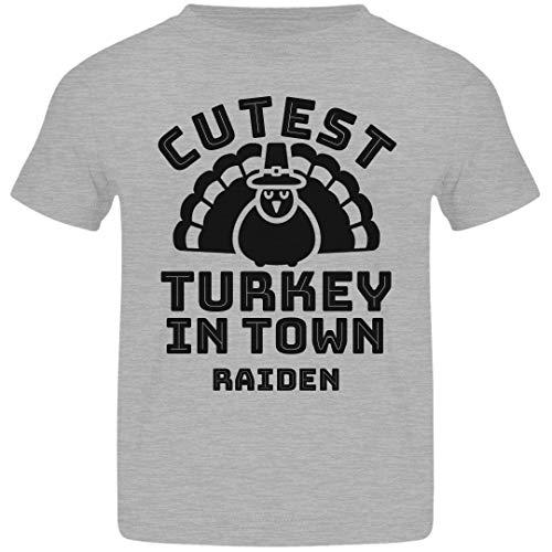 FUNNYSHIRTS.ORG Thanksgiving Cutest Turkey in Town Raiden: Basic Jersey Toddler T-Shirt