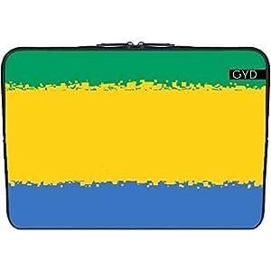 """Funda de neopreno portátil 15.6"""" pulgadas - Gabon- Bandera De 8 Bits by Cadellin"""