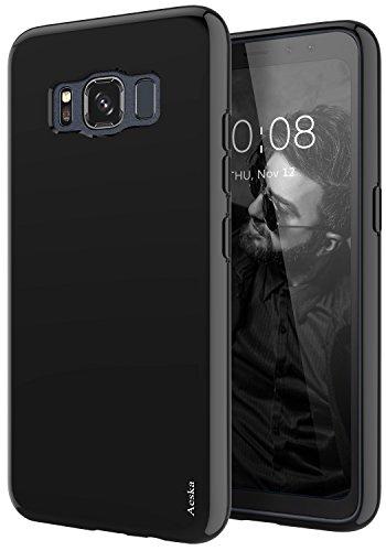 Galaxy S8 Active Case, Aeska Ultra [Slim Thin] Flexible TPU Gel Rubber Soft Skin Silicone Protective Case Cover for Samsung Galaxy S8 Active (Black)