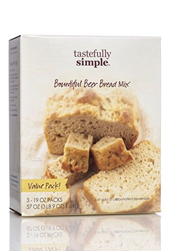 Tastefully Simple Bountiful Beer Bread Mix Value Pack (Garlic Beer)