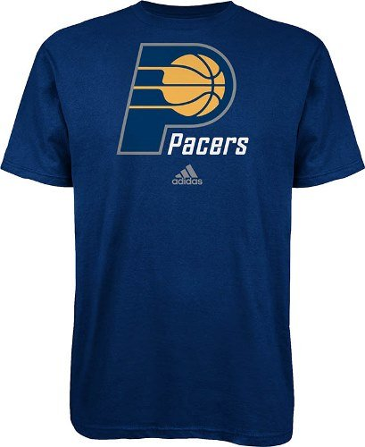Indiana Pacers Adidas NBA Full Primary Logo T-Shirt - Blue