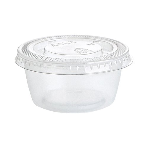 2oz Clear Plastic Gelatin Shot Cups with Lids, 25ct