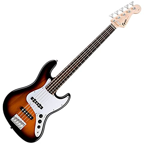 Squier by Fender Affinity Jazz Electric Bass Guitar V (5-String), Rosewood Fretboard with Gear Guardian Extended Warranty - Brown (Fender Jazz Bass Five)