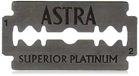 Astra Platinum Double Edge Safety Razor Blades ,100 Blades (20 x 5) - Blade